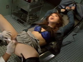 Sexy Japanese fingered and toyed in doctors
